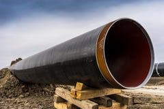 Конструкция трубопровода Trans газопровода адриатического - ВЫСТУЧАЙТЕ в никаком стоковая фотография