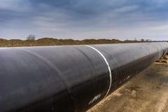 Конструкция трубопровода Trans газопровода адриатического - ВЫСТУЧАЙТЕ в никаком Стоковое фото RF