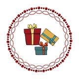 конструкция украшения рождества ваша иллюстрация штока