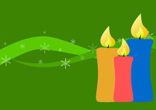 конструкция украшения рождества карточки Стоковые Изображения