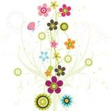 конструкция флористическая иллюстрация вектора