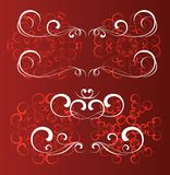 конструкция флористическая swirly Стоковое Изображение RF