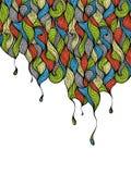 конструкция цвета предпосылки падает иллюстрация ваша Стоковое Изображение