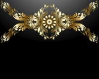 Конструкция цветков золота. Стоковое Фото