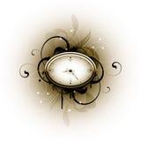 конструкция часов флористическая Бесплатная Иллюстрация