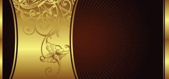 конструкция 2 предпосылок золотистая Стоковые Изображения RF