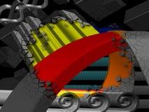 конструкция 3d иллюстрация штока