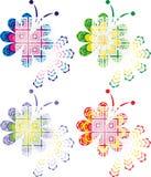 конструкция 4 цвета бабочки творческая Стоковая Фотография RF