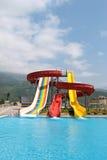 конструкция aquapark Стоковая Фотография