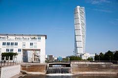 конструкция calatrava возбуждая поворачивать торса malmo sebastian Швеции стоковые фото