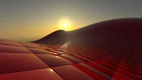 конструкция cubes красный цвет Стоковое фото RF