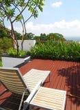 конструкция landscaping самомоднейшее патио Стоковая Фотография RF