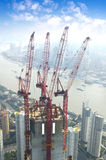 конструкция shanghai урбанский Стоковое Изображение RF