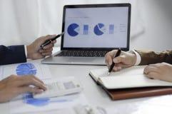 Консультации по бизнесу, работа, совет, проводя аудит стоковое изображение