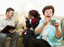консультирующ семья neglectful стоковое фото