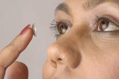 контактные линзы Стоковая Фотография RF