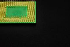 Контакты процессора для персонального компьютера стоковая фотография