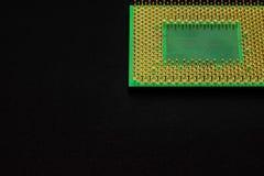 Контакты процессора для персонального компьютера стоковое фото rf