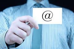 Контакт - визитная карточка стоковое фото rf
