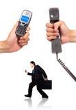 контакт знонит по телефону нам Стоковые Изображения RF