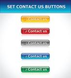 контакт кнопок установил нас иллюстрация штока