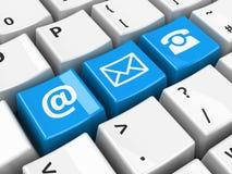 Контакт клавиатуры компьютера голубой Стоковая Фотография RF