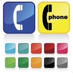 контакт 2 кнопок Стоковые Изображения RF