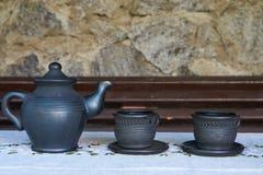 3 контейнера чая керамических Стоковая Фотография RF