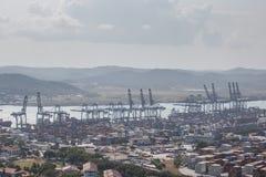 Контейнерный терминал порта бальбоа Стоковые Изображения