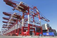 Контейнерный терминал порта Qingdao стоковое фото