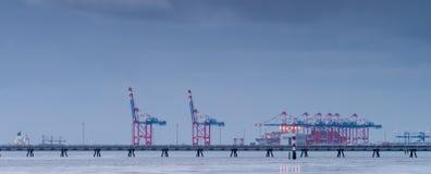Контейнерный терминал Стоковые Фото