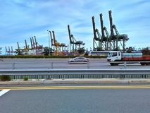 Контейнерный терминал Стоковая Фотография