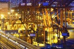 Контейнеровоз в порте Гонконга Стоковое Изображение RF
