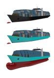 Контейнеровоз, грузовой корабль иллюстрация штока