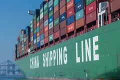 Контейнеровоз судоходных линий Китая Стоковые Изображения RF