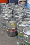 Контейнеры бочонка пива Стоковые Фото