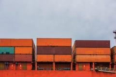 Контейнеры корабля стоковая фотография rf