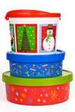 Контейнеры печенья праздника рождества Стоковые Фото