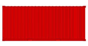 Контейнер для перевозок изолированный на белизне бесплатная иллюстрация