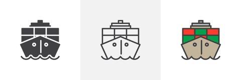 Контейнер, значок грузового корабля бесплатная иллюстрация