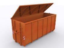 Контейнер мусорного контейнера стоковое изображение rf