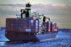 контейнер новый грузя york Стоковые Изображения RF