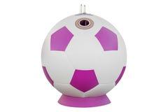 Контейнер отброса в форме футбольного мяча Стоковое Изображение RF