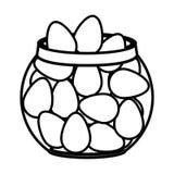 Контейнер со значком изолированным яйцами бесплатная иллюстрация