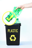 Контейнер для рециркулировать - пластмасса Стоковые Фото