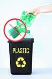 Контейнер для рециркулировать - пластмасса Стоковое Изображение