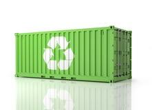 Контейнер Eco Взгляд перспективы зеленого Container иллюстрация штока