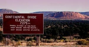 континентальный divide Стоковая Фотография RF