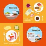 Континентальные и французские концепции завтрака Стоковая Фотография RF