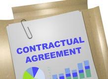 Контрактное соглашение - концепция дела иллюстрация штока